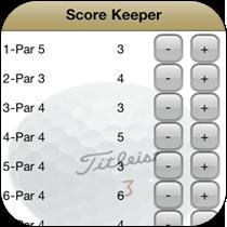 Score Keeper - Golf